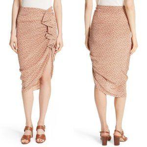 Veronica Beard 'Hazel' Ruched Ruffle Silk Skirt